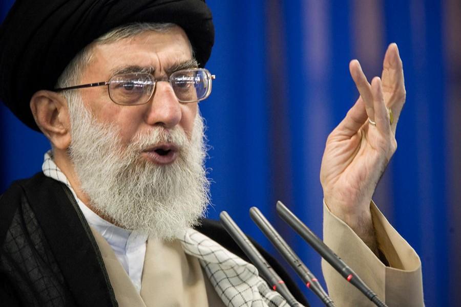 Iran's Supreme Leader Ayatollah Ali Khamenei speaks during Friday prayers in Tehran on September 14, 2007 — Reuters/Files