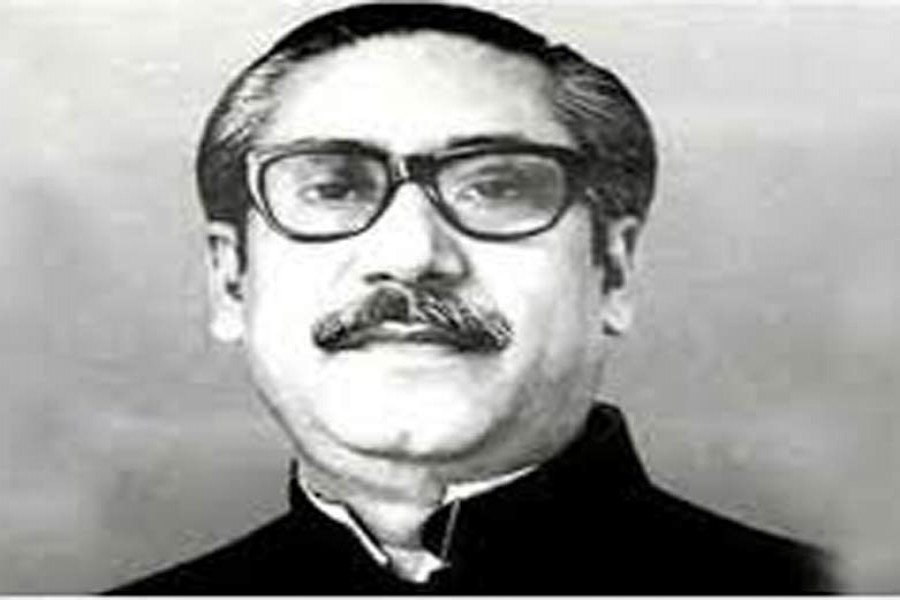 """BANGABANDHU SHEIKH MUJIBUR RAHMAN: """"Only a peaceful environment can enable us to enjoy the fruits of the hard-earned national independence and gather all our strength and resources to fight poverty, hunger, disease, illiteracy and unemployment."""""""