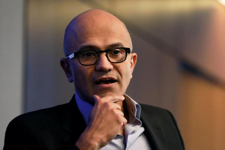 Microsoft CEO Satya Nadella speaks during a Reuters Newsmaker event in Manhattan, New York, U.S., September 27, 2017. REUTERS/Shannon Stapleton