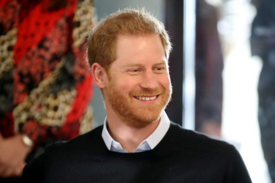 FILE PHOTO: Britain's Prince Harry watches a trampolining session during his visit to a 'Fit and Fed' half-term initiative in London, Britain February 19, 2019. Chris Jackson/Pool via REUTERS