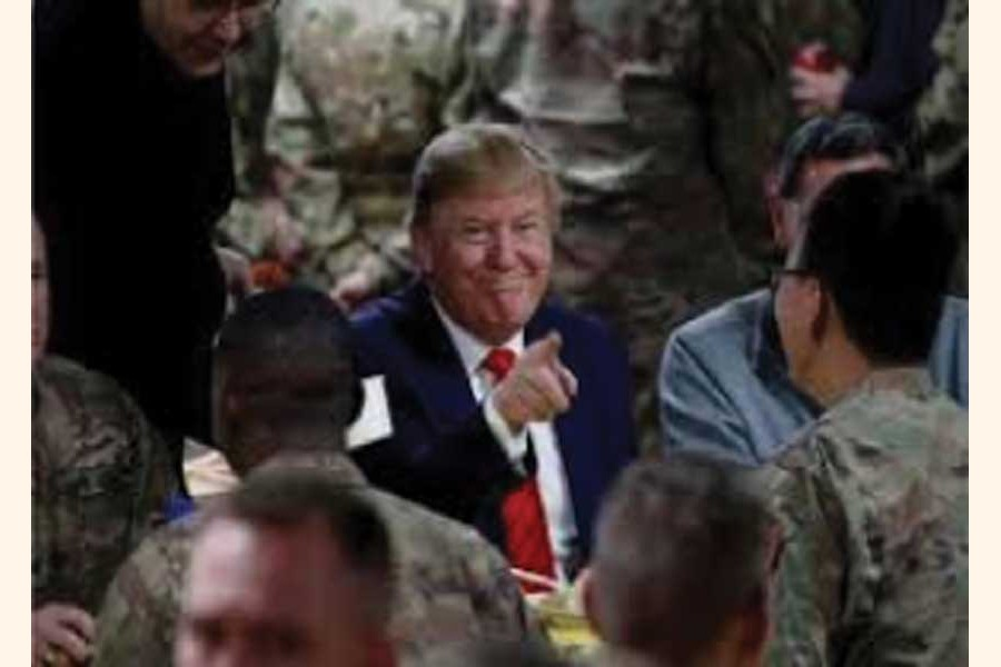 """US PRESIDENT DONALD TRUMP: During remarks at a GOP fundraising event on January 17, President Trump bragged he assassinated """"two for the price of one."""" —Photo: Reuters"""