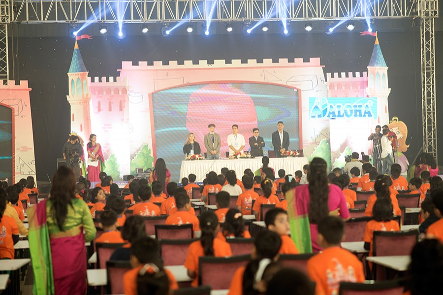 3500 children participate in ALOHA mental math competition