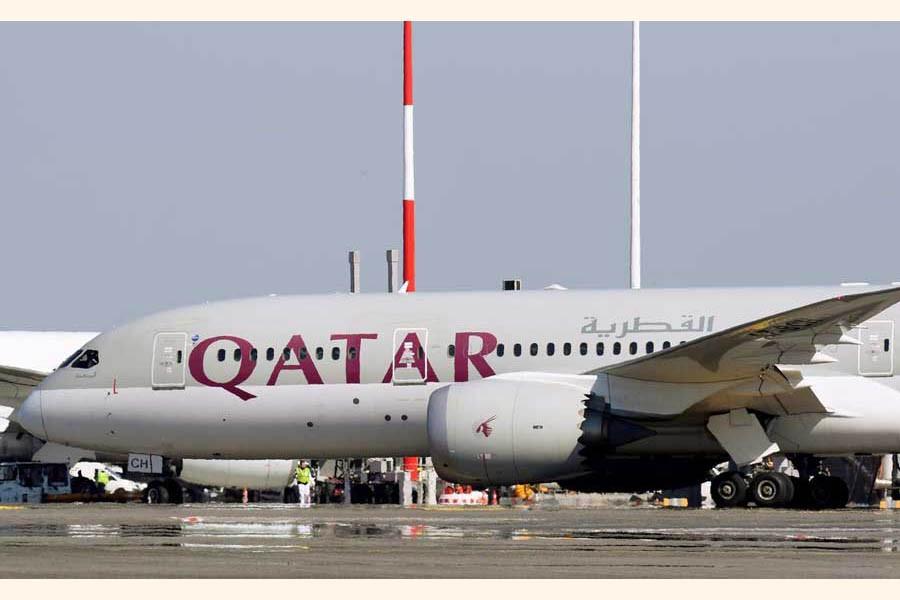 A Qatar Airways Boeing 787-8 Dreamliner airplane is pictured at Leonardo da Vinci-Fiumicino Airport in Rome, Italy                   — Reuters