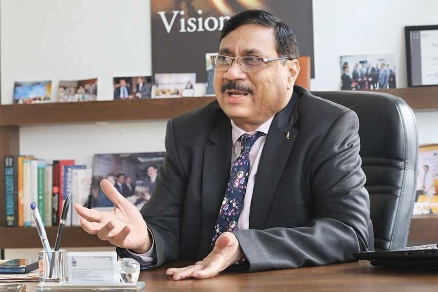 President of American Chamber of Commerce (AmChem) in Bangladesh Syed Ershad Ahmed is seen in the image. — FE Photo
