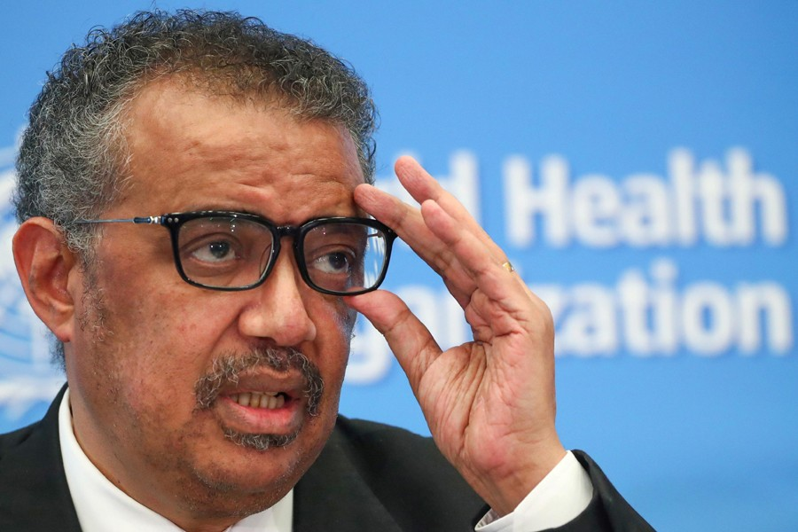 Director General of the World Health Organization (WHO) Tedros Adhanom Ghebreyesus speaks during a news conference on the situation of the coronavirus (COVID-2019), in Geneva, Switzerland on February 28, 2020 — Reuters/Files