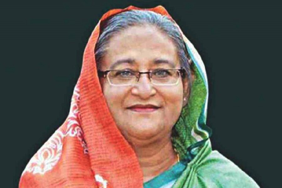 File photo of Prime Minister Sheikh Hasina. (UNB photo)