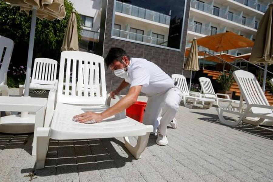 Euro zone business slump eased in June