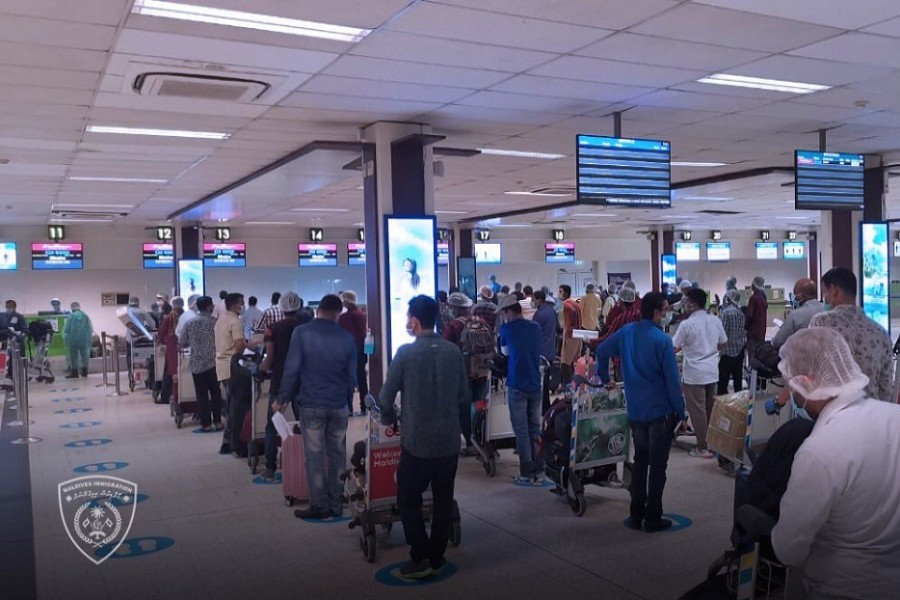 Bangladeshis being repatriated from the Maldives — Maldives Immigration/Twitter/Files
