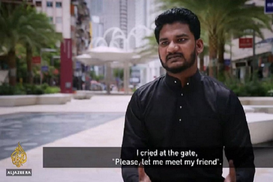 """Bangladeshi youth Md Rayhan Kabir is featured in a 25-minute Al Jazeera report titled """"Locked up in Malaysia's Lockdown"""" on its 101 East programme on July 03 — Collected Photo via Twitter"""