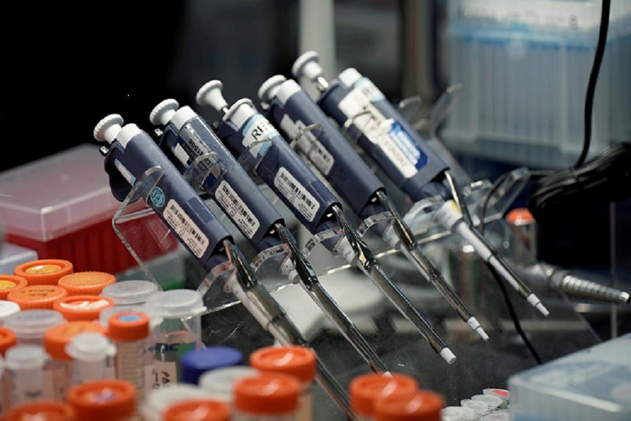 Pipettes and sample vials are seen inside a laboratory at Sorrento Therapeutics where efforts are underway to develop an antibody, STI-1499, to help in prevention of the coronavirus disease (Covid-19) in San Diego, California, US, May 22, 2020 — Reuters/Files