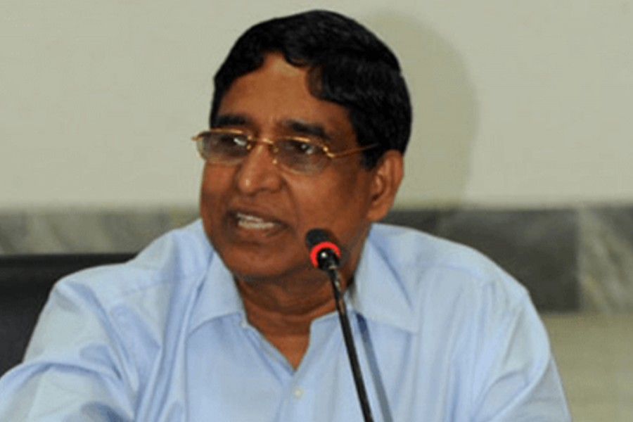 Agriculture Minister Dr Md Abdur Razzaque seen in this undated photo