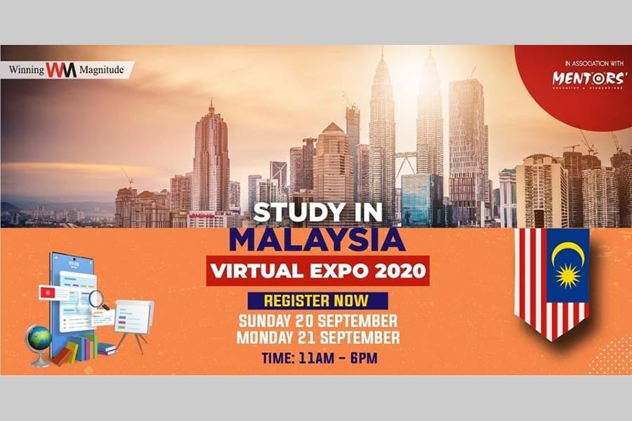 'Study in Malaysia: Virtual Expo 2020' on Sept 20-21