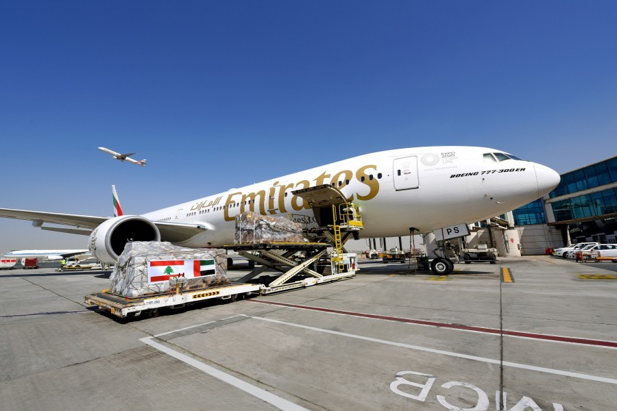 Emirates transports 160,000 kgs of relief goods to Beirut