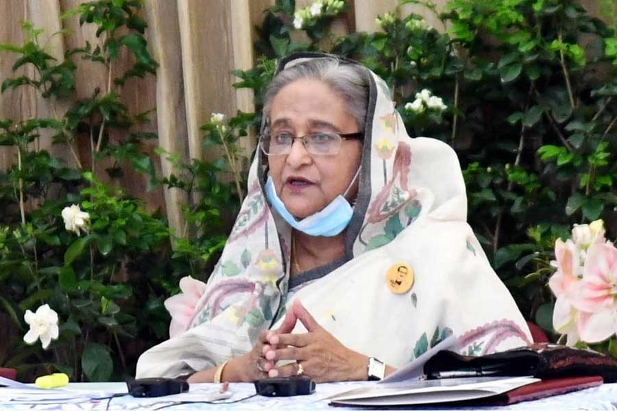 File photo of Prime Minister Sheikh Hasina